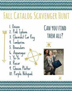 Fall catalog scavenger hunt