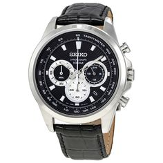 SEIKO Neo Sports Chronograph Black Dial Men's Watch SSB249 from jomashop.com.  #sponsored#seikowatch