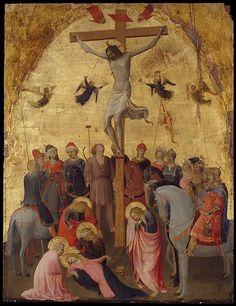 The Crucifixion - Artist: Fra Angelico (Guido di Pietro) (Italian, Vicchio di Mugello ca. 1395–1455 Rome) Date: ca. 1420–23 Medium: Tempera on wood, gold ground