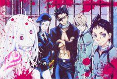 Ganta, Shiro, Senji ,Yoh y Makina // Deadman Wonderland. Excited for this new series crossing fingers for season Deadman Wonderland, Shiro, Manga Anime, Anime Art, Crime, Amagi Brilliant Park, Anime Rules, Psychological Horror, Hitman Reborn