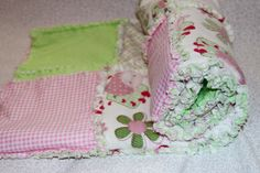Rag Quilt For Baby Girl- doing something similar now actually :)
