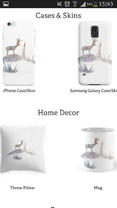 Elegant deer covers for mobile phones for samsung galaxy and iphone puffy pillows and unique designs on cups