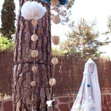 Pompones guirnalda de la comunión de María