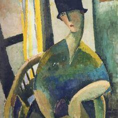 Oil portrait by Jeanne Hebuterne
