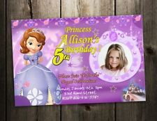 3 designs !! princess sofia the first BIRTHDAY PARTY INVITATION CARD SOPHIA 1ST