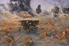 After Stalingrad the next Nazis offensive was Kursk, Summer 1943.Here we see a Red Army anti-tank gun position under attack from a lot of Nazis Ferdinand SP guns. This is the first and last time this peice of junk saw action. The Kursk offensive would be the last Nazis offensive on the Eastern Front. It failed and the Red Army's counter-offensive tore the front wide open.