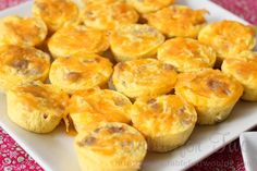 mini egg, sausage, & cheese frittatas for Mother's Day brunch