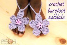 Crochet Barefoot Sandals - Free Crochet Pattern!