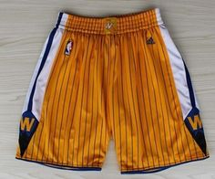 size 40 21292 26546 Golden State Warriors Yellow Pinstripe Short