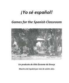 A collection of ten games for Spanish students ranging from beginning levels to advanced. Complete with instructions and skills and materials.    1.	Bet the farm	All levels	 Oral and written practice  2.	Crown Game	 Advanced levels	 Oral practice / circumlocution  3.	Tic Tac Toe	Beginning and Mid-levels	Spelling of vocabulary words  4.	Scrabble	 Beginning and Mid-levels	Vocabulary practice  5.	Battleship	 Beginning and Mid-levels	Conjugation of verbs
