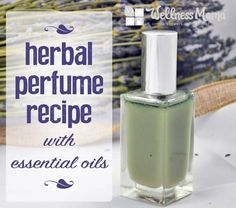 This DIY herbal perfume recipe uses essential oils and food grade alcohol for a natural alternative to conventional perfume with aromatherapy benefits.