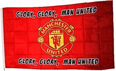 Manchester United Glory Glory Man United Large Flag 5ft x 3ft