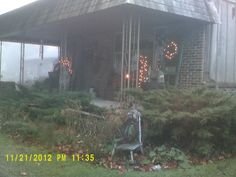 our front porch; always have a light on...:D