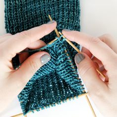How to knit a heel flap on a pair of socks, with particular tips for double pointed needles.