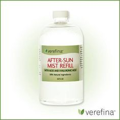FEATURED PRODUCT: AFTER-SUN MIST REFILL  This 16 oz. After-Sun Mist refill is a family must-have during the summer months! It contains carefully chosen essential oils and botanical extracts that work together to soothe and repair sunburned skin. Also great as an overall skin refresher, makeup setting spray, acne buster, first aid spray, and more! This will refill your empty 4-ounce After-Sun Mist bottle 4 times - a savings of 34% per refill.
