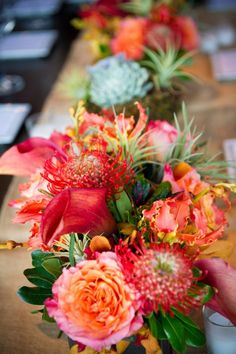 Beautiful fall centerpieces, love when I know the faces and vendors on @Style Me Pretty