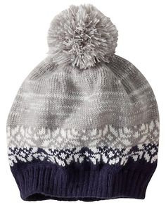 Fair Isle Hat from #HannaAndersson. (he wants a GREEN hat, no fair isle, but yes to the BIG pompom)