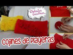 Chuladas Creativas :: Cojines con Playeras :: Manualidades Sammily - YouTube