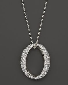 """John Hardy Kali Silver Lava Large Drop Pendant on Chain Necklace with White Sapphires, 36"""" 