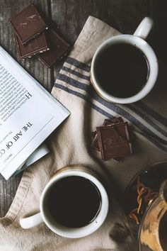 {Coffee and chocolate.}