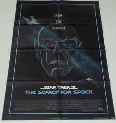 Star Trek III The Search for Spock (1984) One Sheet Movie Poster Nimoy Shatner