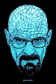 A portrait of Walter White from Breaking Bad. This design is available as a T-shirt here - http://www.redbubble.com/people/mrwhaite/works/9487011-breaking-meth