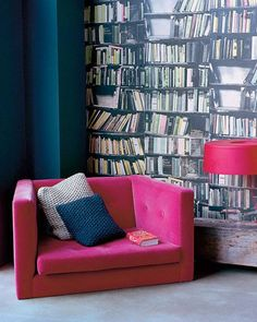 Bookcase Wallpaper On The Ground Floor Available At Ahern S London Independent