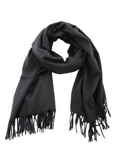 Acne Studios - Fall Winter 2015 - Menswear // Black Canada scarf