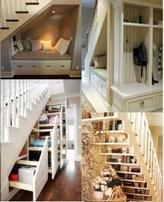 Who knew under the stairs could look so good??? #Clever #IWant
