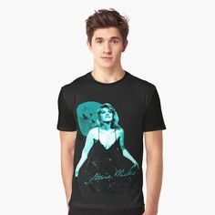 Blue Poster, Stevie Nicks, My T Shirt, Female Models, Vivid Colors, How To Make, How To Wear, Art Prints, Printed