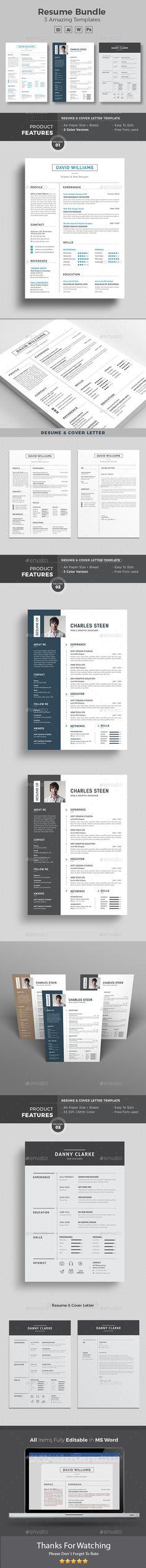 #Resume #Word Bundle - Resumes #Stationery