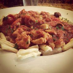 Freshly made pasta cacciatore!