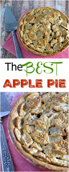 The Best Apple Pie Recipe - a classic recipe for tart apples with just enough sugar and spice. The prefect all-American dessert recipe.
