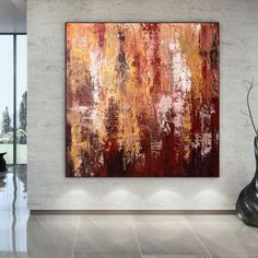 Textured Wall Art Acrylic Painting On Canvas Contemporary image 2 Large Painting, Acrylic Painting Canvas, Abstract Canvas, Canvas Art, Blue Abstract, Gold Canvas, Colorful Artwork, Extra Large Wall Art, Office Wall Art
