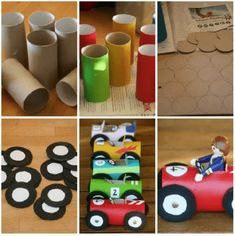 Easy Toddler Crafts using Toilet Paper Rolls - Kids Art & Craft Kids Crafts, Toddler Crafts, Preschool Crafts, Diy And Crafts, Arts And Crafts, Craft Kids, Toilet Paper Roll Art, Rolled Paper Art, Cars Birthday Parties