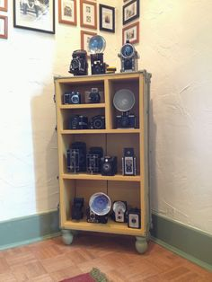 A trunk is repurposed to make a camera display.