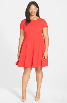 Waist Detail Fit & Flare Dress (Plus Size)