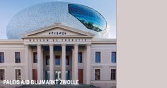 Museum de Fundatie (museum for visual arts) in Zwolle, eastern part of NL. Spectacular combination of classic and modern architecture. Architect Huibert Jan Henket is responsible for 'the eye' on the rooftop.