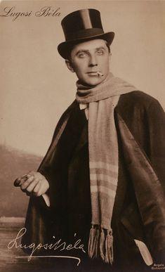 Vintage ca. 1920 Hungarian photo-portrait postcard of Bela Lugosi.