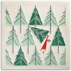 Charley Harper Art Studio Perfect Tree tile