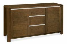 Casa Walnut Narrow Sideboard with Top Unit Narrow Sideboard, Walnut Furniture, American Walnut, Walnut Veneer, Bonded Leather, Seat Pads, Cupboard, Modern Design, Drawers