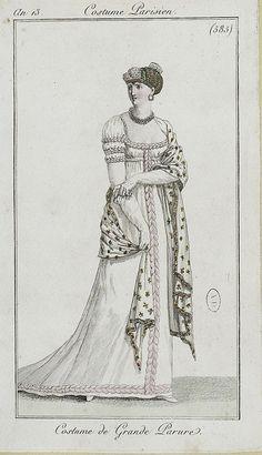 1805?  Love the dress trim and SHAWL