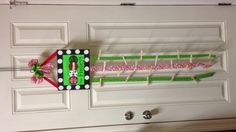 Personalized Christmas card holder