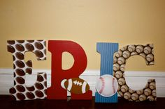 Sports theme nursery by thenestofmamad on Etsy, $13.00