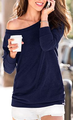 fleece off the shoulder tunic