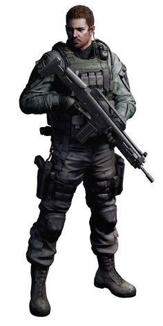 Chris Redfield....Resident evil is my fave games ever!! I have every single one made =D