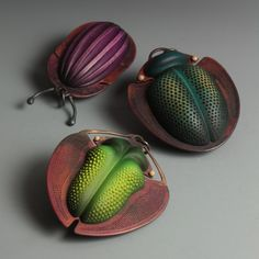 Exquisite Beetles Cleverly Sculpted as Secret Storage Boxes Louise Hibbert is inspired by the world of beetles and uses their visual diversity characteristics to fashion tiny boxes and jewelry....