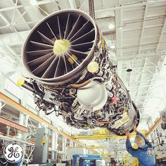 The F414 advanced fighter engine at our Lynn, MA plant. #AVgeeks