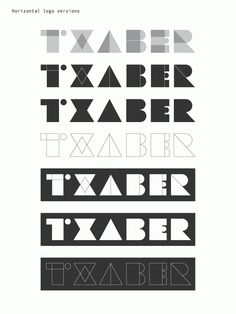 Txaber logotype by Txaber , via Behance