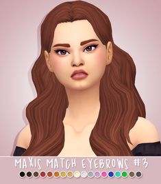 .: Maxis match eyebrows #03